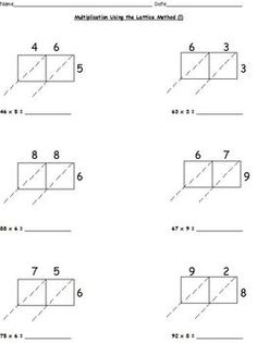 math worksheet : lattice multiplication worksheets  multiplication tutorial  : Partial Products Multiplication Worksheets
