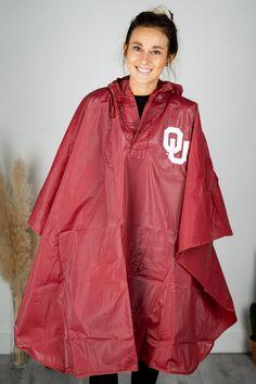 University Of Oklahoma, Oklahoma City, Oklahoma Sooners Apparel, Rain Poncho, Ladies Boutique, Vinyls, Capes, Lush, Rain Jacket