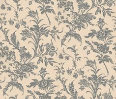 Lloyd Charcoal/Biscuit (3219891) - Laura Ashley Wallpapers - A beautiful design of graceful trailing flowers, delicately sketched in charcoal grey on a soft biscuit-beige background. Adds elegant grandeur with a large pattern repeat of 91.4cm. Please request sample for true colour match.