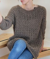 Baggy Wave Sweater - A lovely, long sweater for lazy days. Great for everyday use. Airy with a nice and easy structure. The dress will stretch out to a dress length after rinse.