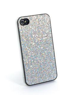 Glitter iPhone Skin - Silver