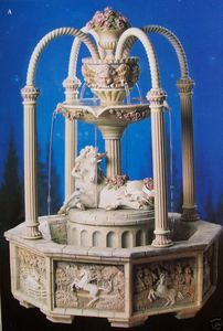 "2001 Franklin Mint $500 Romantic 16"" Medieval Unicorn Fountain 4 Display Only 