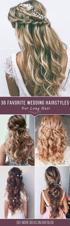 36 Our Favorite Wedding Hairstyles For Long Hair ? We make a list our favorite wedding hairstyles for long hair. Look through it and pick your perfect variant to become the most beautiful bride. See (Coiffure Pour Grosse) Wedding Hairstyles For Long Hair, Wedding Hair And Makeup, Formal Hairstyles, Diy Hairstyles, Bridal Hairstyles, Bridesmaid Hairstyles, Latest Hairstyles, Long Hair Wedding Styles, Short Hair Styles