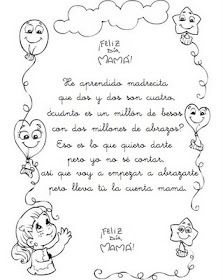 Poemas Canciones Para El Dia De La Madre Para Niños Pin En Manualidades Dia De Las Madres