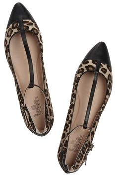 Leopard-print calf hair ballet flats by Belle Sigerson Morrison Wild In The Streets, Leopard Print Heels, Sigerson Morrison, Discount Designer Clothes, Fashion Outlet, Clothes For Sale, Everyday Fashion, Ballet Flats, Calves