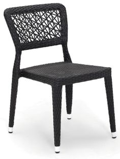This Synthetic Wicker Restaurant Chair Is Weather Resistant And Will Look  Great On Your Outdoor Dining