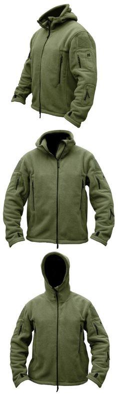 Say hello to your new go-to jacket. Versatile and rugged, this men's Tactical Military Fleece is made with cotton fleece for warmth and a down the middle zipper for easy on and off. Ample pocket space makes this garment adventure and travel ready. Cool Outfits, Casual Outfits, Men Casual, Fashion Outfits, Camo Print Jacket, Tactical Jacket, Tactical Gear, Tactical Clothing, Cotton Fleece