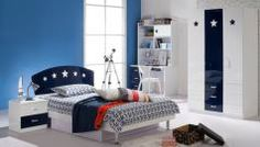 Teen Room: Teenage Bedroom Design Ideas: Cool Rooms For Adolescent With An Esoteric Taste Bedroom Decorating Tips, Boys Bedroom Decor, Blue Bedroom, Bedroom Ideas, Bedroom Designs, Bedroom Furniture, Decorating Ideas, Deco Gamer, Sports Wall