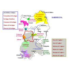 Mappa dei vini di Sardegna   #TuscanyAgriturismoGiratola