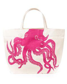 Dermond Peterson 'Sealife Octopus' Canvas Tote