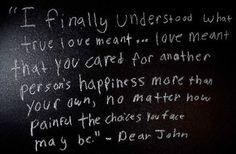 dear john... such a romantic.