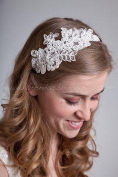 Lace Headband Bridal Headband  Sabrina by brendasbridalveils, $49.95