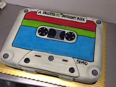 Cassette Mix Tape Throwback Birthday Cake