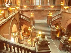 Fantastic view of the Million Dollar Staircase in Albany, NY State capital building