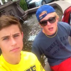 Nash Grier and Hayes | ... Seth Wade and Hayes Grier #funny #bussit #imreal #superman #luckypenny