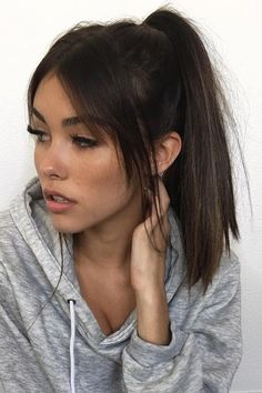 Sweet hairstyle ideas for long face - best short haircuts - beauty beast . - Sweet hairstyle ideas for long face – best short haircuts – beauty beast – - Sweet Hairstyles, Hairstyles With Bangs, Straight Hairstyles, Wedding Hairstyles, Hairstyle Ideas, Casual Hairstyles, Braided Hairstyles, Side Fringe Hairstyles, Celebrity Hairstyles