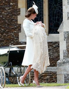 Flawless - as usual and as expected! Kate Middleton Stuns in Alexander McQueen Dress at Christening