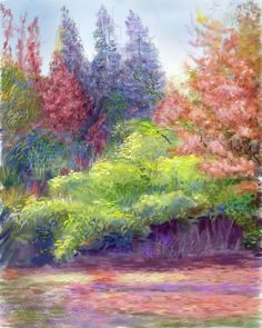 autumn woods by ~cibecue on deviantART    The artist may see autumn, but I see spring.