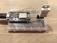 ESP8266 with a DHT22 sensor and deep sleep enabled
