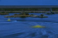 Depresión de Danakil, en Etiopía.    Vista nocturna del lago salado.© Olivier Grunewald