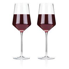 Raye Crystal Bordeaux Glasses (Set of 2) by Viski