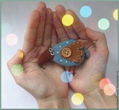 Купить Птица Счастья.Брошь для неисправимых оптимистов)) - синий, птица, птица счастья, птичка