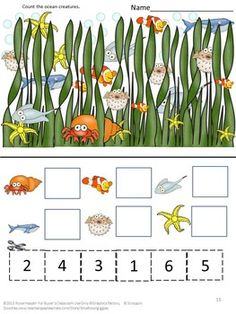 The ocean is a fascinating place for young and old alike. This Ocean-All Creatures Above and Below Bundle lets the student explore the ocean and all its creatures. This Oceans Bundle consists of 4 products using Ocean graphics. This gives the students the opportunity to practice various skills while exploring the ocean.