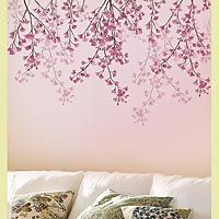 blossoms-stencil...pretty on a pink wall and so girly!