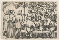 Peasants' Feast  1547    Hans Sebald Beham