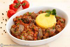 ficatei-in-sos-de-rosii Martha Stewart, Broccoli, Beef, Food, Kitchens, Meat, Essen, Meals, Yemek