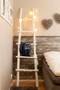 DIY wooden ladders from branch