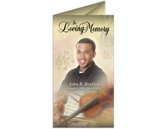 Custom funeral tri fold brochure template with your photo(s) background removed and expertly embedded into any of our beautiful background designs.