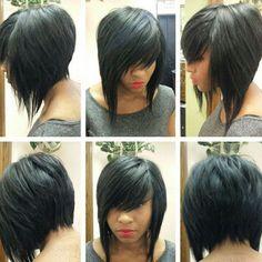 Loving this layered bob via ❤️✂️ Weave Hairstyles, Pretty Hairstyles, Short Hair Cuts, Short Hair Styles, Bobe, Hair Photo, Love Hair, Hair Today, Hair Dos