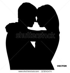 Two Lovers. Silhouette Stock Vector 123241474 : Shutterstock