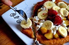 Owsiany omlet na słodko | Fit jest Git French Toast, Healthy Eating, Breakfast, Fitness, Kitchen, Food, Diet, Eating Healthy, Morning Coffee