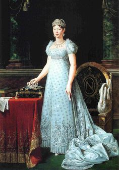 Portrait of Marie-Louise of Austria, wife of Napoleon and empress of France Robert Lefevre - 1812