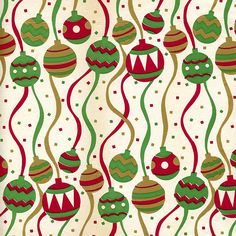 Mid-Century Christmas Paper - festive by ElectroSpark, via Flickr