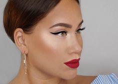Winged liner & bold lips Makeup Tutorial - Makeup Geek