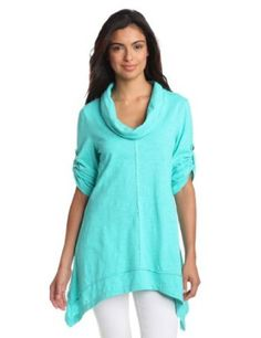 Amazon.com: Neon Buddha Women's Peace Cowl Neck, Clean Turquoise, Small: Clothing