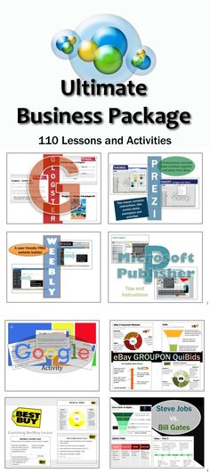 110 Lessons and Activities about Technology, Business and Marketing