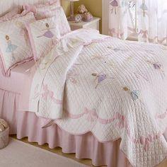 Ballet Bedding - Little Girls Ballet Lesson Quilt