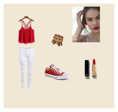 """""""Untitled #2"""" by samrahrnjicic ❤ liked on Polyvore featuring Converse and Chanel"""