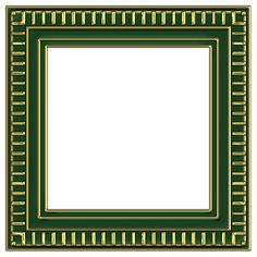 assorted layered frames in photoshop psd and png formats green and gold line design square