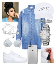Whiteout⚪️ by alinajagshi on Polyvore featuring polyvore, fashion, style, Edit, NIKE, Michael Kors, Bling Jewelry, Nasaseasons, Linda Farrow and clothing