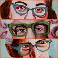 Featured today on #ARTHUNT are wondrous works by #52SOUTH #artistoftheweek  HAYLEY GABERLAVAGE  #vagabond #bold #vibrant #people #eyes #glasses #turquoise #green #personalityplus #american #humor 🤓😂 #paint #art #love #nola #wehuntyoucollect  #harriet #sam #linda  Check out HAYLEY's #collection #online https://arthunt-gallery.com/artist/hayley-gaberlavage/