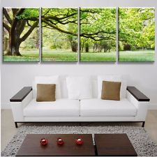Modern Printed Multi Combination Tree Painting Picture Cuadros Landscape Canvas