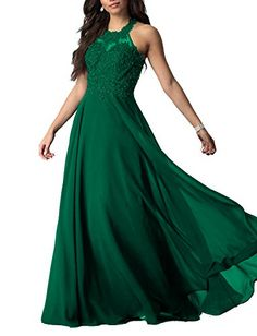 73d78521a2908 Lily Wedding Womens Beaded Halter Prom Bridesmaid Dresses 2018 Long Formal  Evening Ball Gowns D101 Emerald