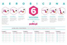 Jak ćwiczyć A6W - infografika -Płaski brzuch - Fitness - Polki.pl