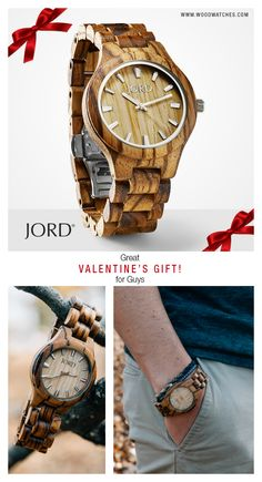 Time with the one you love is always well spent. Give them a gift to remember, a natural wood watch from JORD! Wood represents strength and endurance making it the perfect gift to celebrate your time together. Gifts For Him, Great Gifts, Wooden Watches For Men, Fitness Gifts, Swagg, Jewelery, Casual, Husband, Valentines