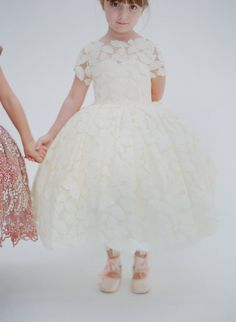 Adorable flower girl and dress by Doloris Petunia